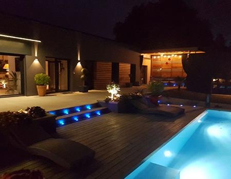 Eclairage exterieur piscine poitiers